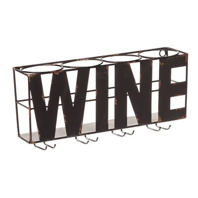 Trent Austin Design Doswell 4 Bottle Wall Mounted Wine Rack