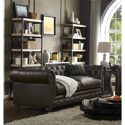 Trent Austin Design Durango Antique Brown Leather Sofa