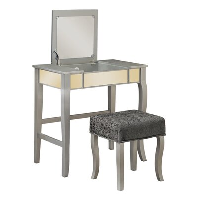 House of Hampton Donald Vanity Set with Mirror