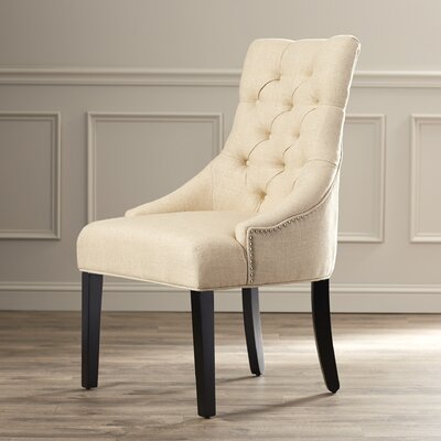 House of Hampton Jodie Tufted Nailhead Parsons C..