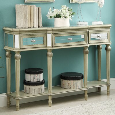 House of Hampton Henson 3 Drawer Console Table