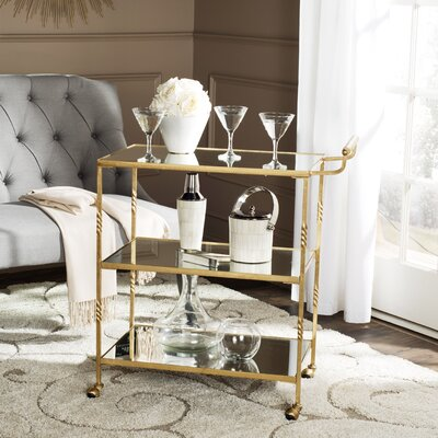House of Hampton Aurelius Bar Serving Cart
