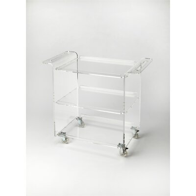 Mercer41 Alachua Crystal Clear Acrylic Trolley Server