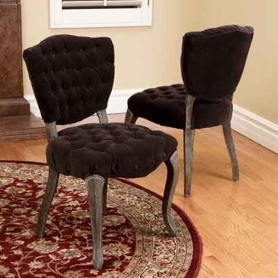 House of Hampton Daniel Tufted Side Chair (Set of 2)