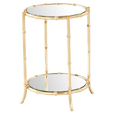 Mercer41 Jessica Mirrored Side Table
