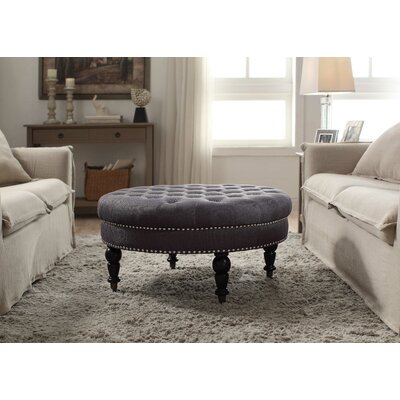 House of Hampton Gahn Round Tufted Ottoman