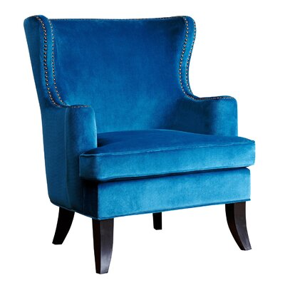 House of Hampton Hetton-le-Hole Fabric Nailhead Trim Arm Chair