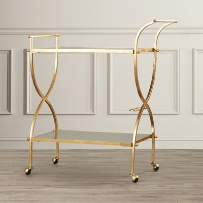 House of Hampton Lucretius Bar Serving Cart