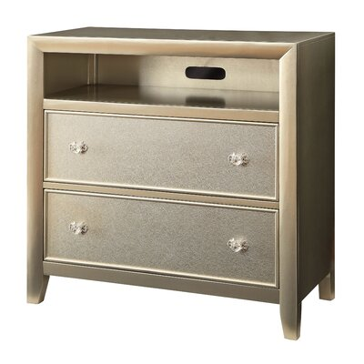 House of Hampton Antigore 2 Drawer Media Chest
