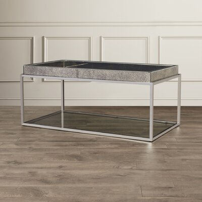 House of Hampton Ramillies Coffee Table with Tray Top