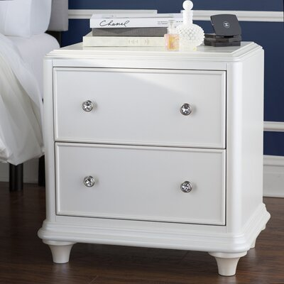 House of Hampton Barbara 2 Drawer Nightstand