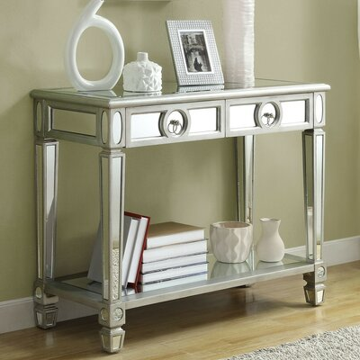 House of Hampton Ripley 2 Drawer Mirrored Console Table