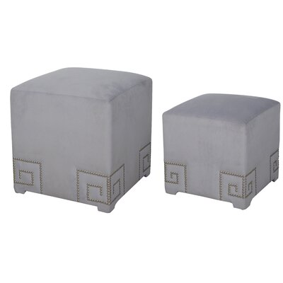 House of Hampton 2 Piece Cube Ottoman Set