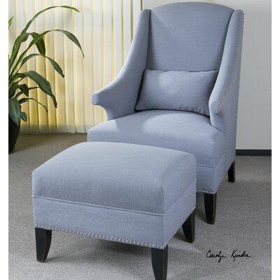 House of Hampton Sean Arm Chair and Ottoman