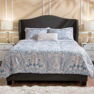 House of Hampton Alabaster Dark Grey Upholstered Bed Set
