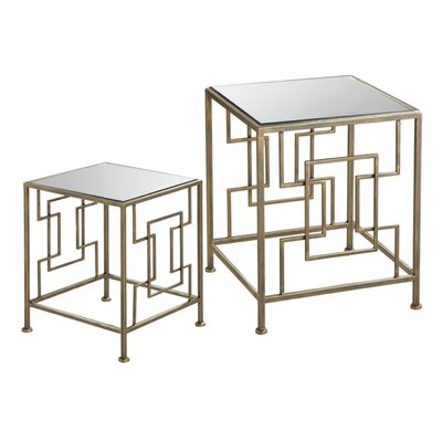 House of Hampton Ettinger 2 Piece Nesting Tables