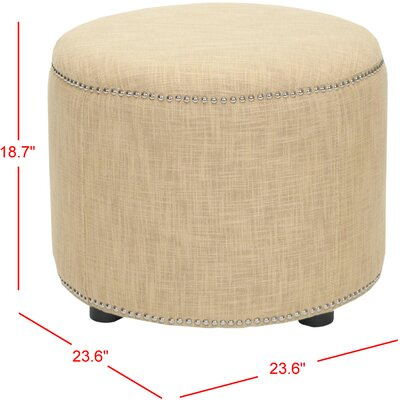 House of Hampton Wivenhoe Fabric Ottoman