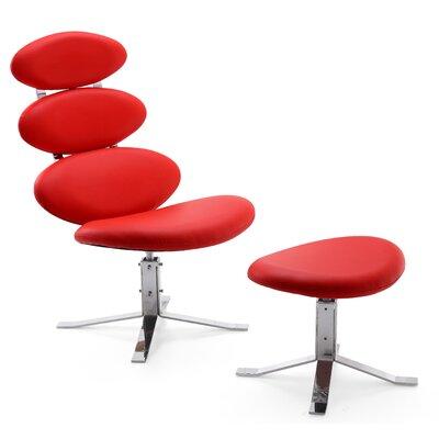 Ceets Corona Leather Chair and Ottoman Set