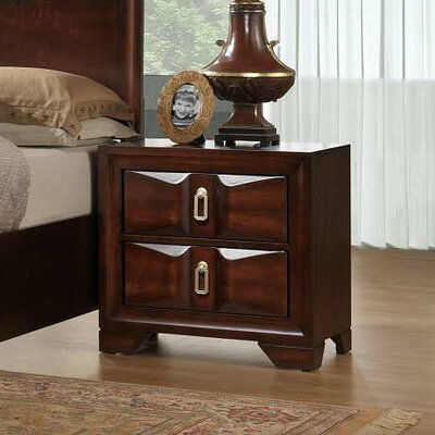 Simmons Casegoods Roswell 2 Drawer Nightstand