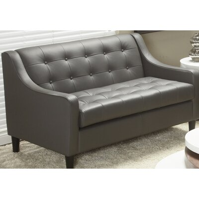 Lind Furniture Cameo Collection Leather Loveseat