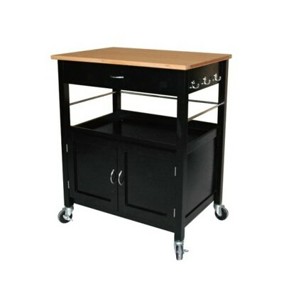 eHemco Kitchen Island Cart with Natural Butcher ..