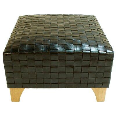 Peninsula Home Trenzas Leather Ottoman