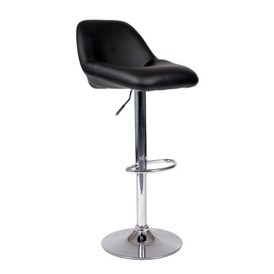 Roundhill Furniture Adjustable Height Swivel Bar Stool (Set of 2)