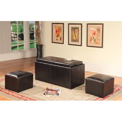 Roundhill Furniture 3 Piece Coffee Table ..