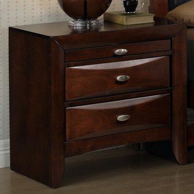 Roundhill Furniture Emily 2 Drawer NightStand