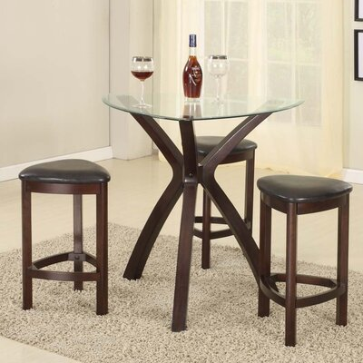Roundhill Furniture 4 Piece Counter Height Pub Table Set
