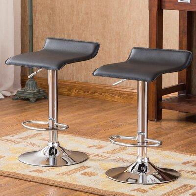 Roundhill Furniture Adjustable Height Swivel Bar..