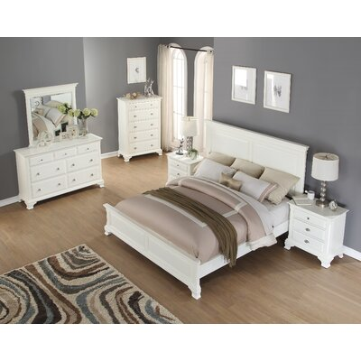 Roundhill Furniture Leveno Panel 5 Piece Bedroom Set