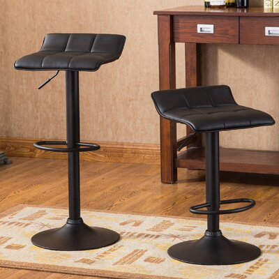Roundhill Furniture Belham Adjustable Height Swivel Bar Stool (Set of 2)