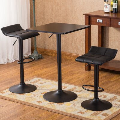 Roundhill Furniture Belham 3 Piece Pub Table Set