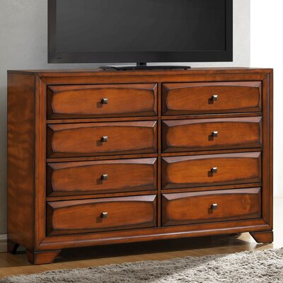 Roundhill Furniture Oakland 8 Drawer Dresser
