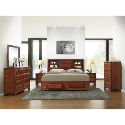 Roundhill Furniture Asger Queen Platform Customizable Bedroom Set