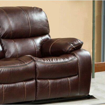 Roundhill Furniture Ewa Double Reclining Loveseat