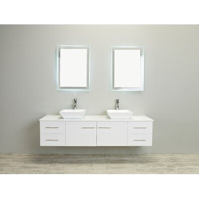 72 inch white bathroom vanity eviva totti wave 72 inch white modern sink bathroom 21876