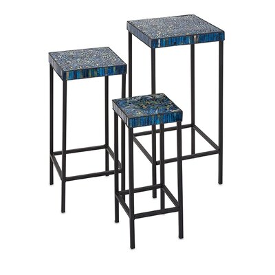 World Menagerie Arvizu 3 Piece Mosaic End Table Set