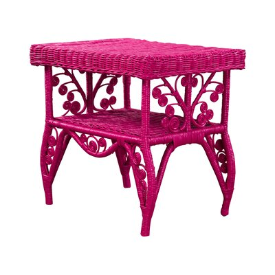 Bungalow Rose Rattan End Table