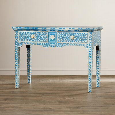 Bungalow Rose Khalaf Inlay Console Table