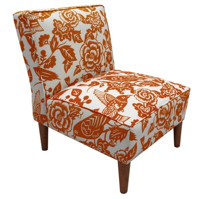 Bungalow Rose Fiona Tangerine Slipper Chair