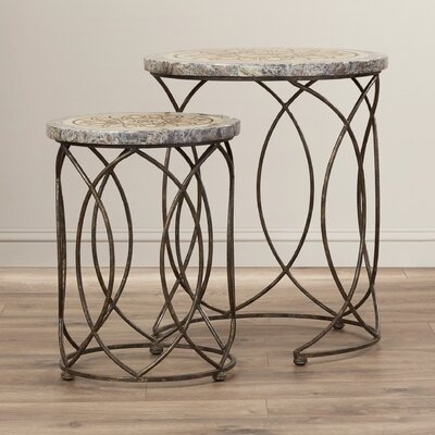 Bungalow Rose Akatlar 2 Piece Kinich Nesting Tables