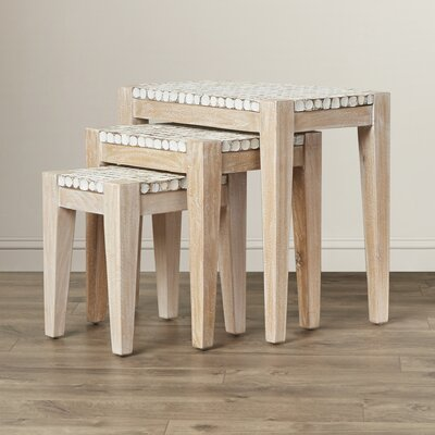 Bay Isle Home Kepir 3 Piece Nesting Table..