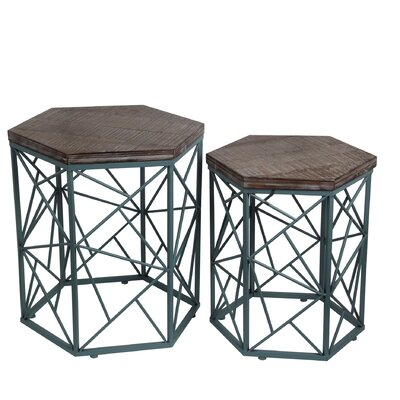 Bungalow Rose Brochu 2 Piece End Table Set Image