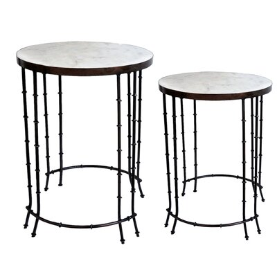Bungalow Rose Mamta 2 Piece End Table Set