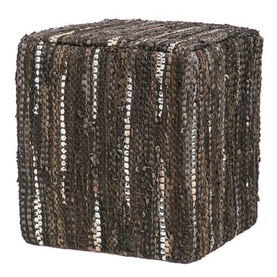 Bungalow Rose Voris Leather Pouf
