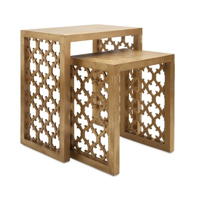 Bungalow Rose Canaberra 2 Piece Nesting Table Set