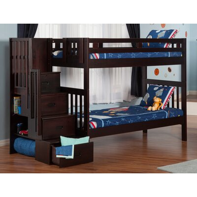 Viv + Rae Twin Bunk Bed with Staircase
