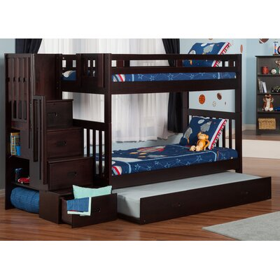Viv + Rae Twin over Twin Bunk Bed with St..
